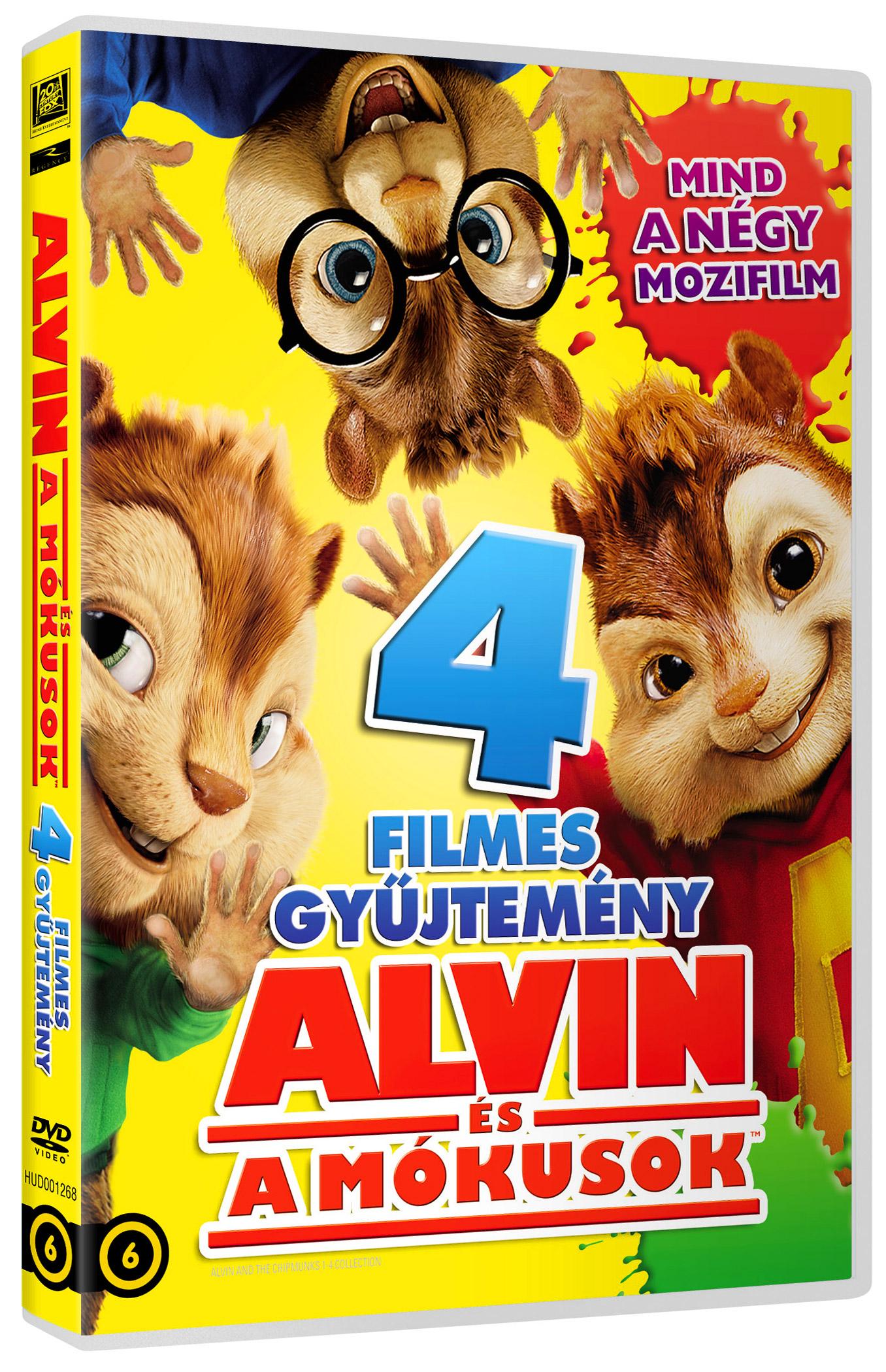 Alvin �s a m�kusok 1-4. gy�jtem�ny (4 DVD) DVD