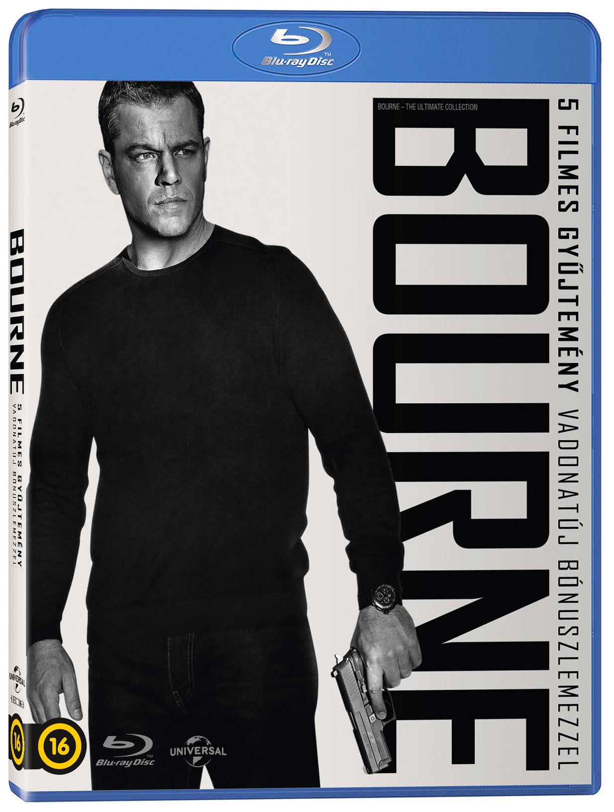Bourne-gyűjtemény (5 Blu-ray + DVD) Blu-ray