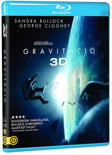 Gravitáció 2D és 3D Blu-ray
