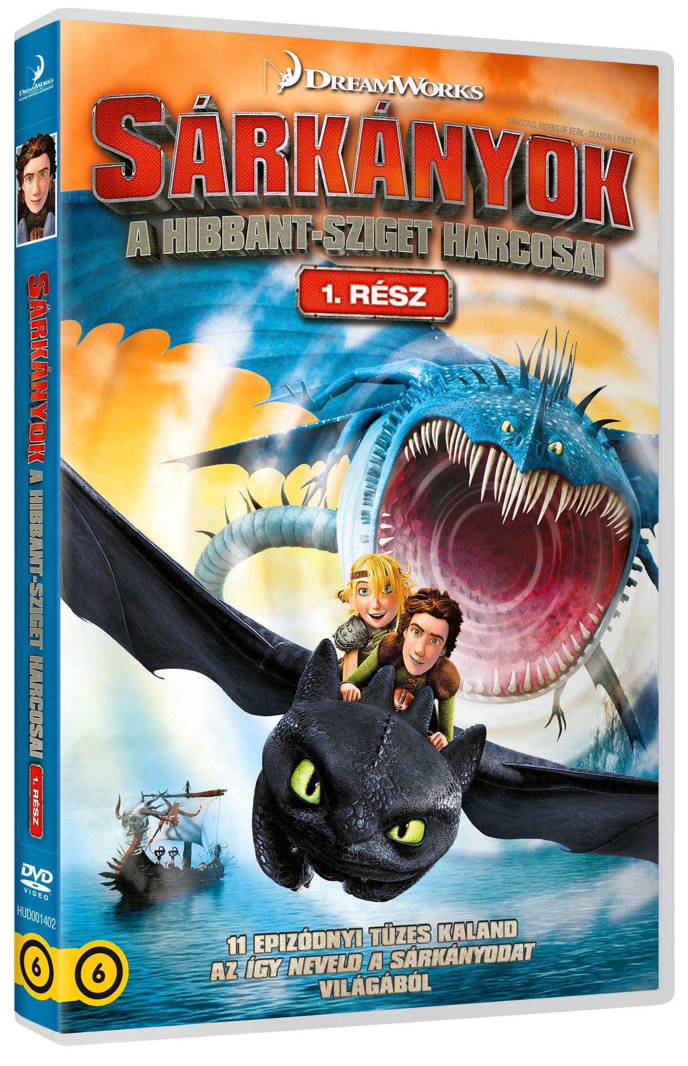 Sárkányok: A Hibbant-sziget harcosai - 1. rész (2 DVD) DVD