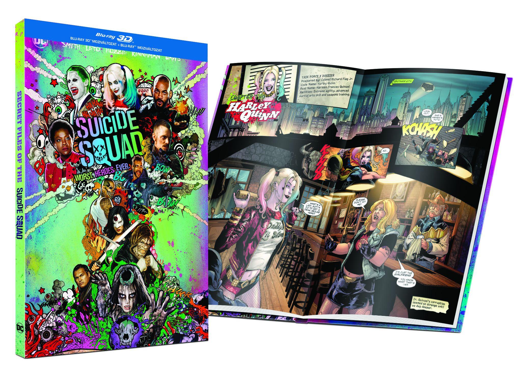 Suicide Squad - Öngyilkos osztag  - Limitált képregényes kiadás 2D és 3D Blu-ray
