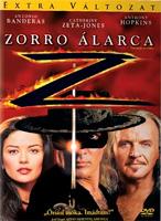 Zorro álarca DVD