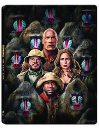 """Jumanji - A következő szint (4K UHD + Blu-ray) - limitált, fémdobozos változat (""""majmos"""" steelbook) Blu-ray"""