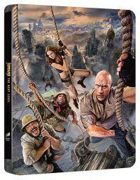 """Jumanji - A következő szint (4K UHD + Blu-ray) - limitált, fémdobozos változat (""""mozgó híd"""" steelboo Blu-ray"""