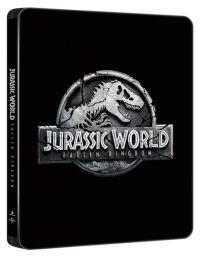 """Jurassic World: Bukott birodalom  - limitált, fémdobozos változat (""""2018"""" Black steelbook) 2D és 3D Blu-ray"""
