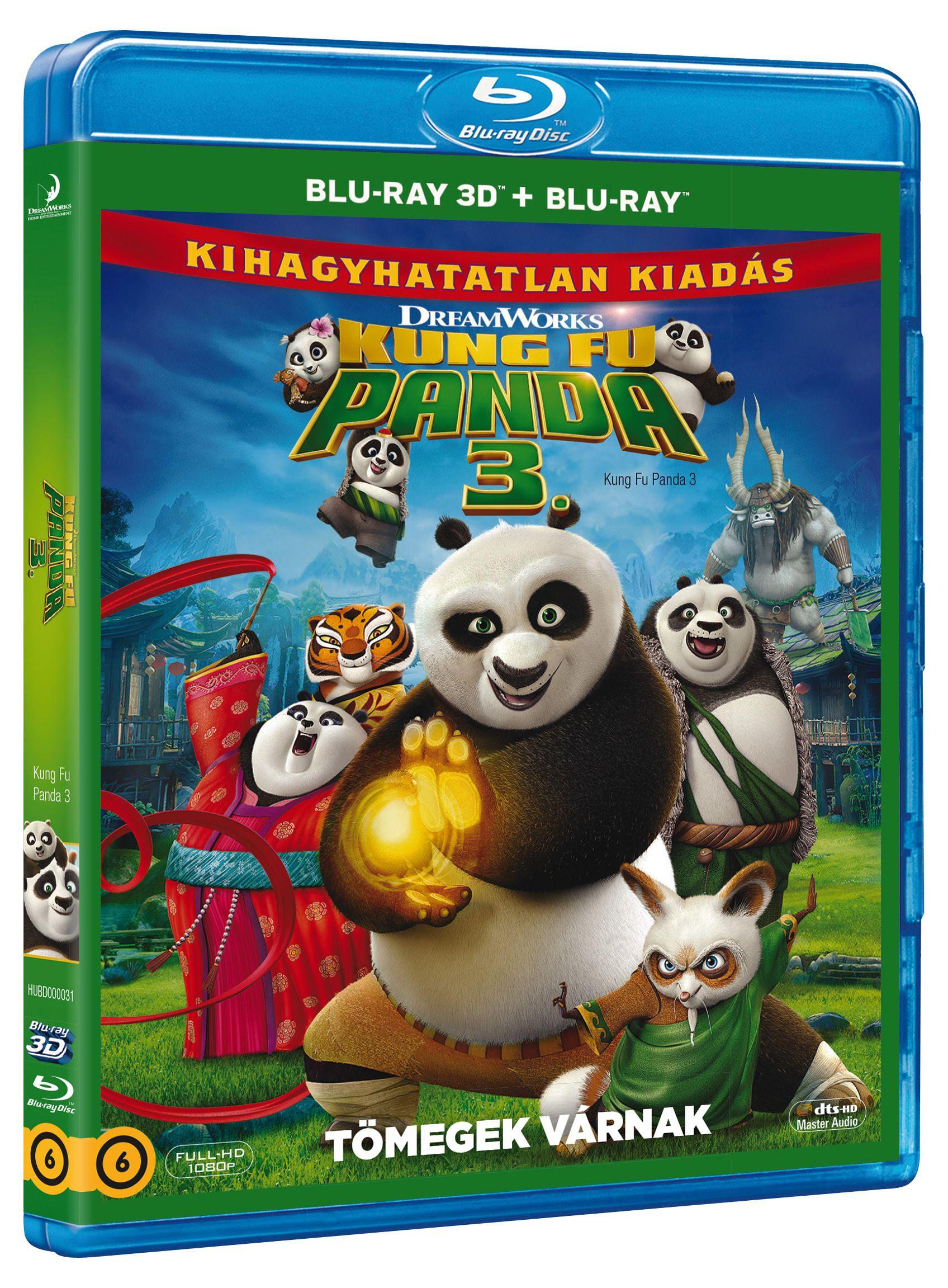 Kung Fu Panda 3. 2D és 3D Blu-ray