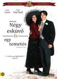 Négy esküvő, egy temetés DVD