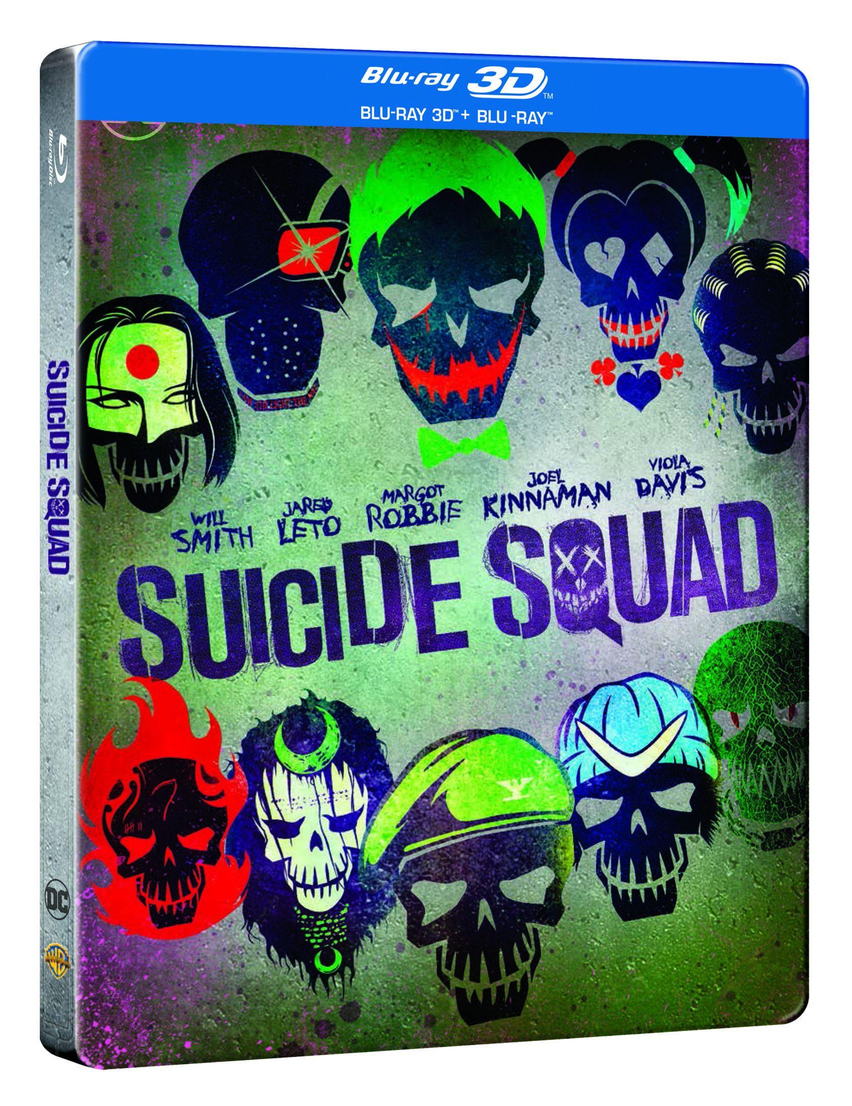 Öngyilkos osztag 2D és 3D Blu-ray